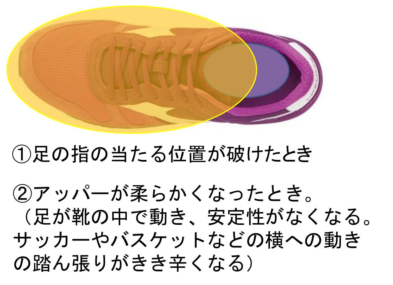 靴の交換 アッパー